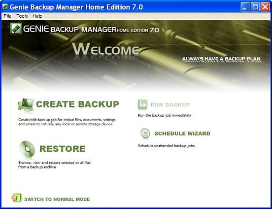 Genie-backup-manager-home-v70_gui