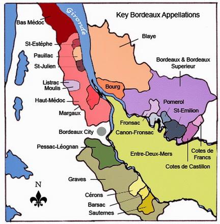 Bordeaux-map